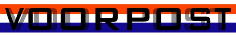 Het logo van Voorpost-Nederland op hun homepage