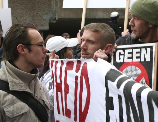Alex Neid o.a. Nieuwe Nationale Partij en Ben van der Kooi o.a. Nationale Alliantie