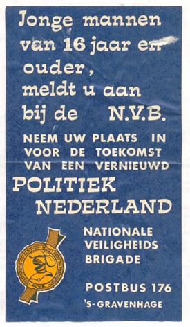 Advertentie Nationale Veiligheids Brigade