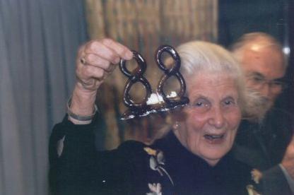 Ms Rost van Tonningen celebrating her 88th birthday, 88 standing for Heil Hitler in nazi numerology