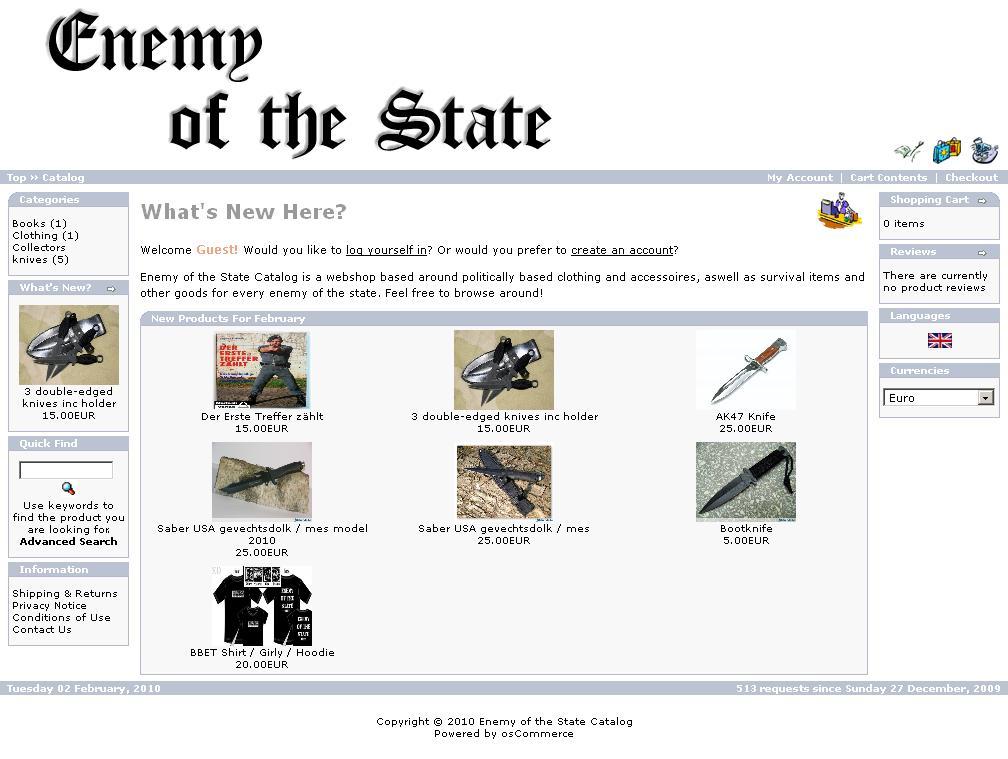 Enemy of the State webwinkel van Arnoud Kuipers
