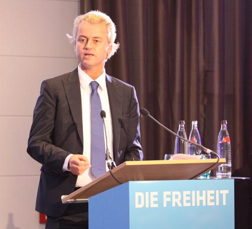 Geert Wilders in Berlijn, 2010
