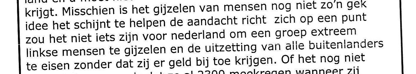 Plannen voor gijzeling door Ruud Hermans