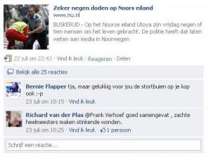 Reactie Richard van der Plas op aanslagen Noorwegen