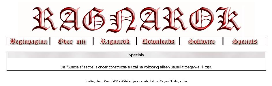 Ragnarok, tijdschrift van Ruud Hermans