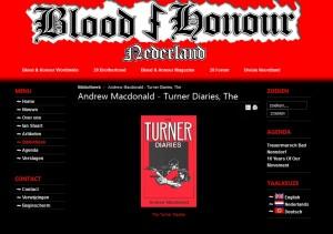 The Turner Diaries op een B&H website