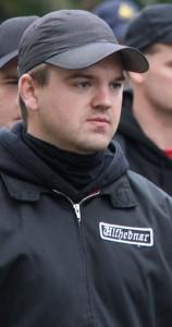 Marcel van Velzen op demonstratie in Den Haag, 2011