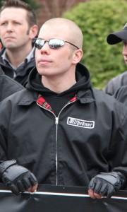 Mark Koopmanschap op NVU demonstratie in Ede, 2011