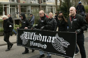 Ulfhednar op NVU demonstratie in Ede, 2011