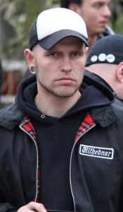 Jeroen van de Wateringen op demonstratie in Den Haag, 2011