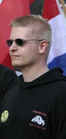 Patrick de Bruin op NVU demonstratie, 2009