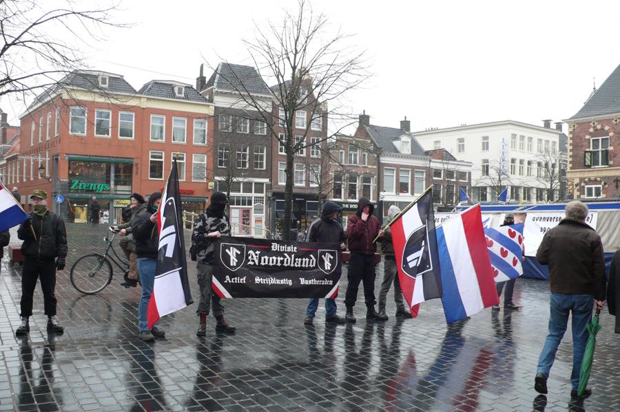 Divisie Noordland demonstreert tegen AFA en de PVV in Groningen, 2011