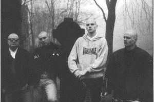 Landstorm met van links naar rechts Ed, Dave, Bjorn en Jasper