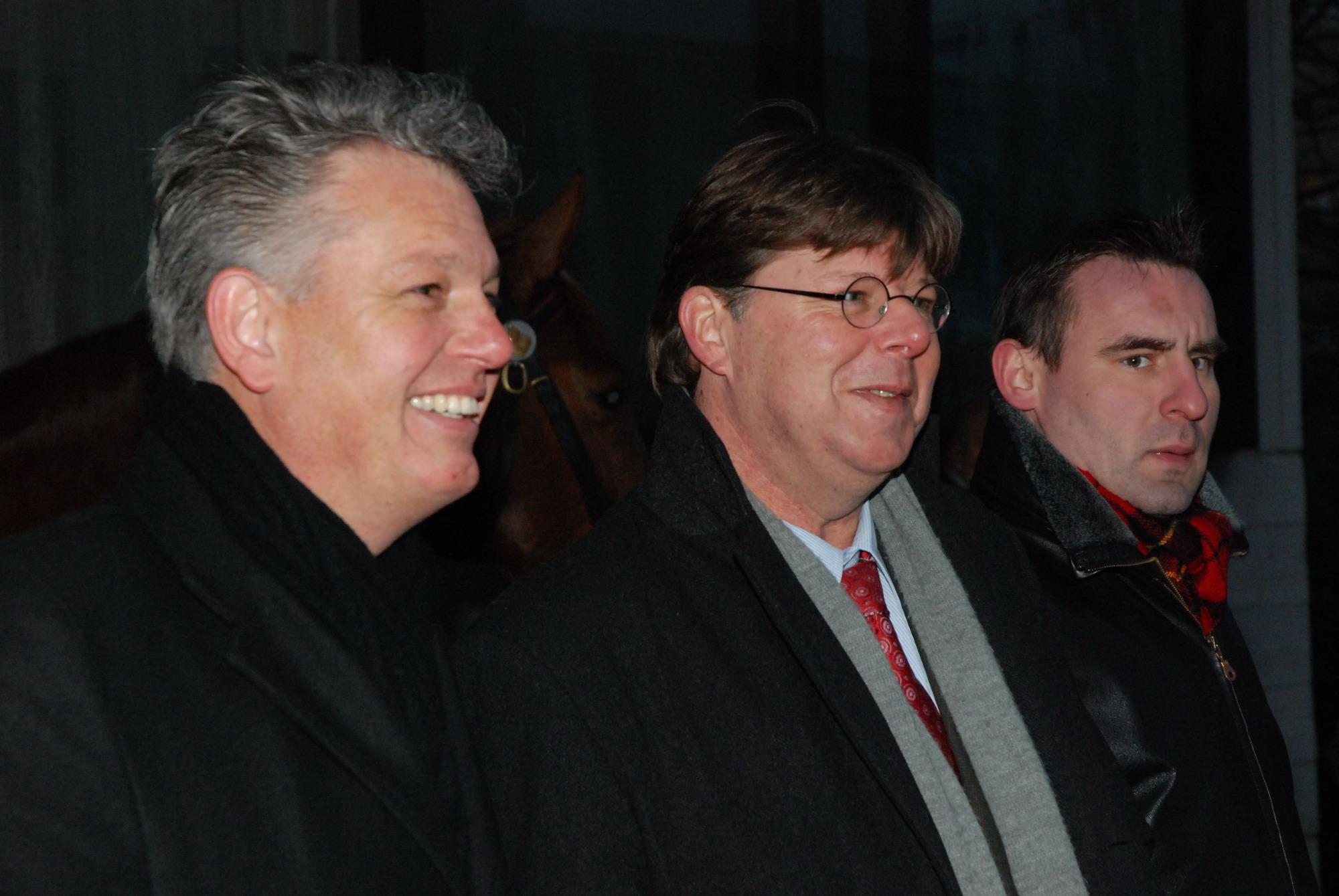 Brinkman (links) op PVV manifestatie Amsterdam, 2010