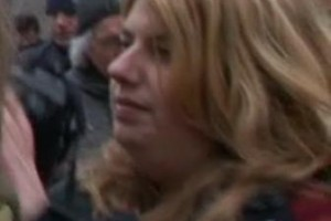 Monica Nunes op PVV manifestatie te Amsterdam, 2010