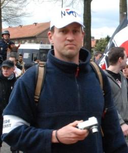 Michiel Bos op NVU demonstratie, 2007