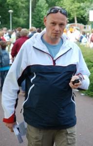 Tim Mudde tijdens een MDTB actie, 2008