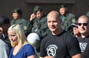 Jeroen Boers op nazidemonstratie in Hamm, Duitsland 2011