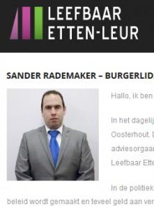 Sander Rademaker van Leefbaar Etten-Leur