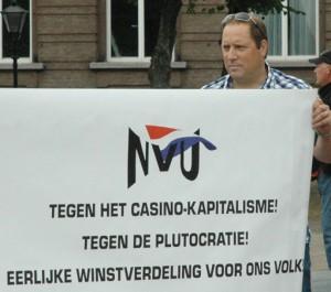 Mark van der Logt op NVU manifestatie 20 juli 2013, Den Haag