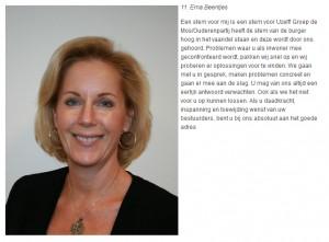 Kandidate Erna Beentjes ook actief voor Artikel 50