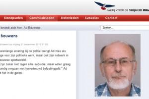 Voormalig PVV lid Bouwens nu lijsttrekker van OPA Veere