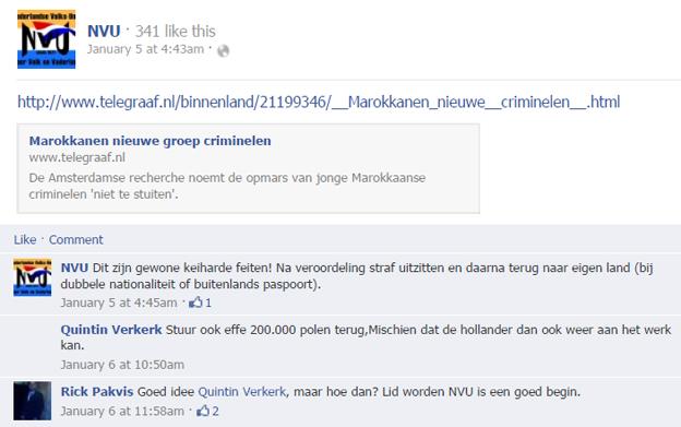 Quintin Verkerk van Artikel 50 valt in de smaak bij nazistische Nederlandse Volks Unie