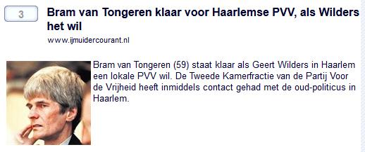 Van Tongeren faalde bij PVV, nu actief bij Sociaal Lokaal