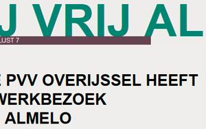PVV Statenfractie bezoekt Partij Vrij Almelo