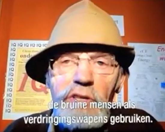 Günther Niessen in een uitzending van zendtijd voor politieke partijen