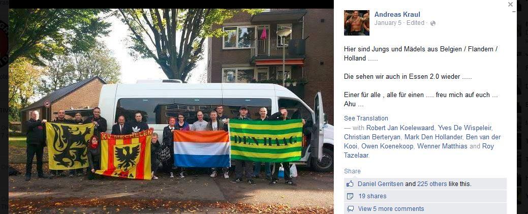 Screenshot foto Nederlandse HoGeSa activisten Keulen, 26 oktober 2014
