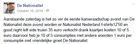 nationalist drankgeld