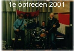 Eerste optreden in De Kazerne, Eindhoven 2001