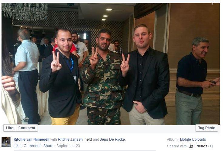 Kolvers met zijn nieuwe vrienden in Damascus, 23 september 2015
