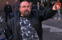 NVUer Mike Brand bij het protest
