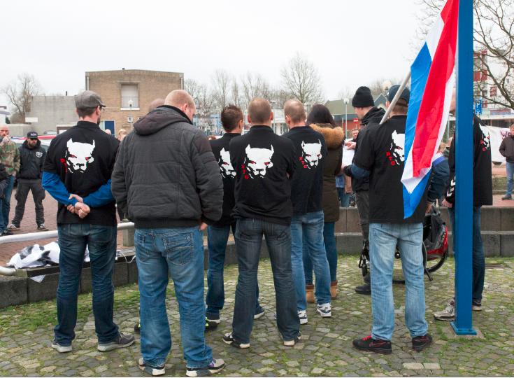 DTG op demonstratie Kameraadschap Noord-Nederland, Oude pekela december 2015