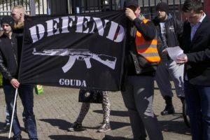 Defend Gouda op demonstratie tegen vluchtelingeopvang, Gouda 23 april 2016