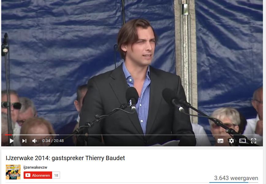Baudet speaks on IJzerwake, 2014