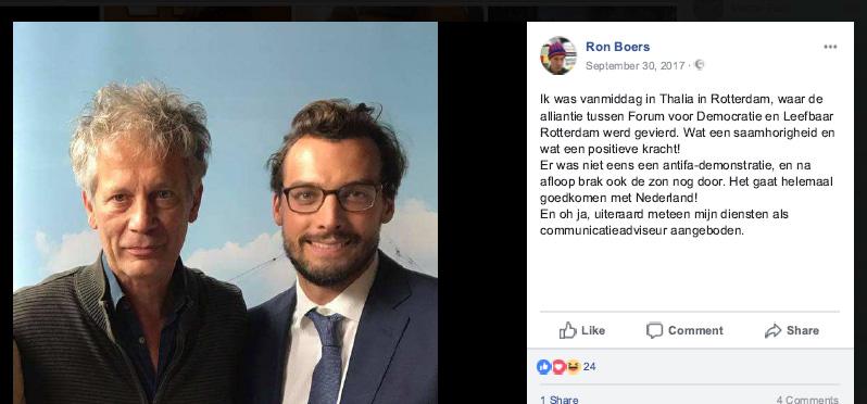 Ron Boers ONS Vlaardingen en Thierry Baudet Forum voor Democratie