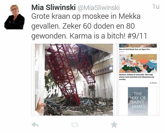 Forza! lijsttrekster Mia Sliwinski