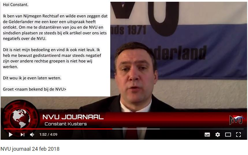Bericht Nijmegen Rechtsaf aan NVU, februari 2018