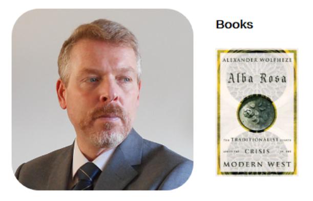Alexander Wolfheze promoot zijn boek, screenshot januari 2019