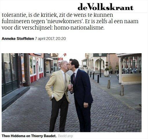 Hiddema en Baudet ondersteunen mishandelde homo's (Screenshot Volkskrant)