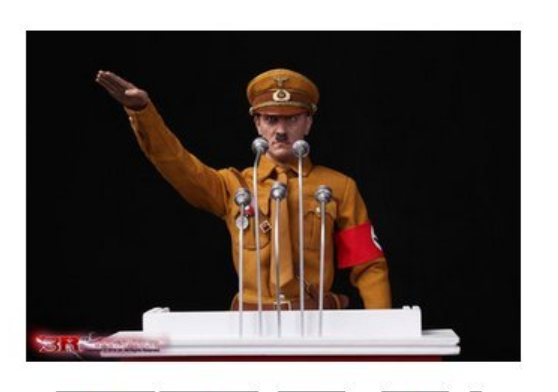 """Super realistisch"" standbeeld van Adolf Hitler (screenshot site Don Militaria)"