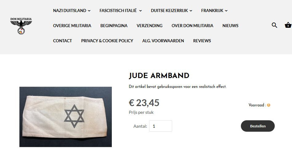 """Jude Armband"" (screenshot site Don Militaria)"