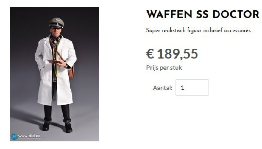 Waffen SS doctor (screenshot Don Militaria)
