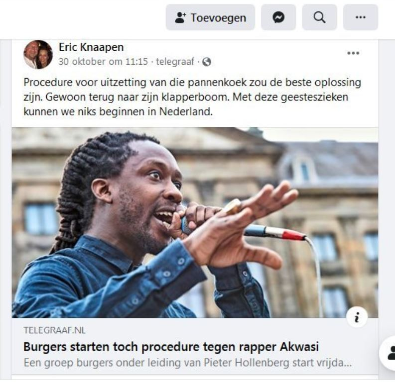 Eric Knaapen over Akwasi