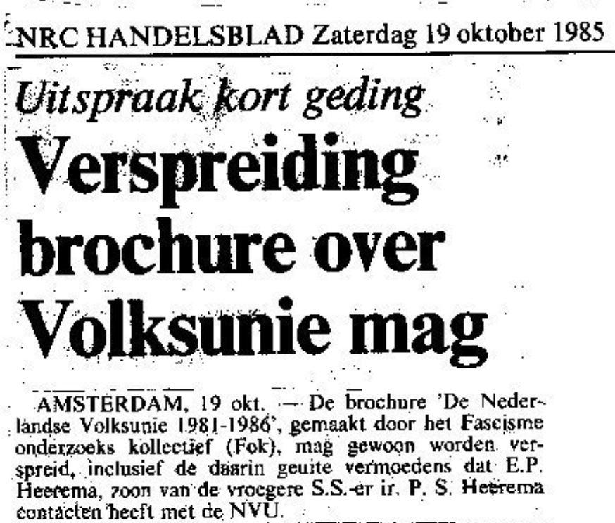 NRC over Heerema, 1985