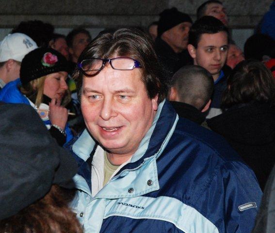 Wim Elshout op PVV-manifestatie te Amsterdam, januari 2010